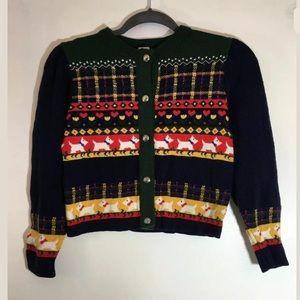Vtg Unbranded Scottish Terrier Sweater Sz 10